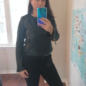 Mango leather jacket M